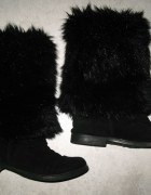 NEXT czarne kozaki damskie futrzaki roz 39...