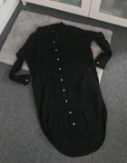 Długa koszula sukienka czarna Vila S...