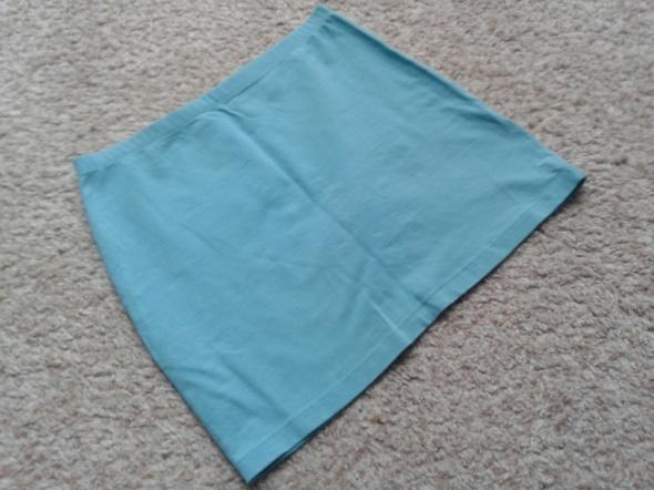 Spódnice H&M niebieska spódniczka spódnica tuba ołówkowa