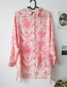 Długa koszula z vintage printem Topshop......