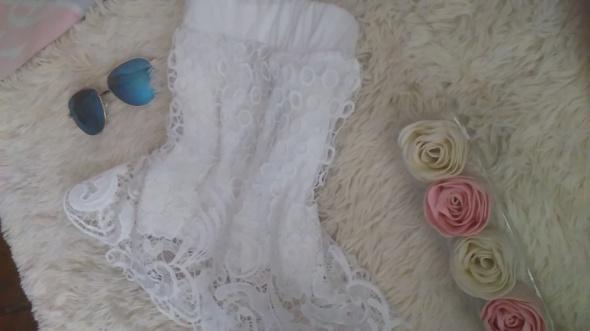 Biała koronkowa spódniczka koronka z koronką xs s