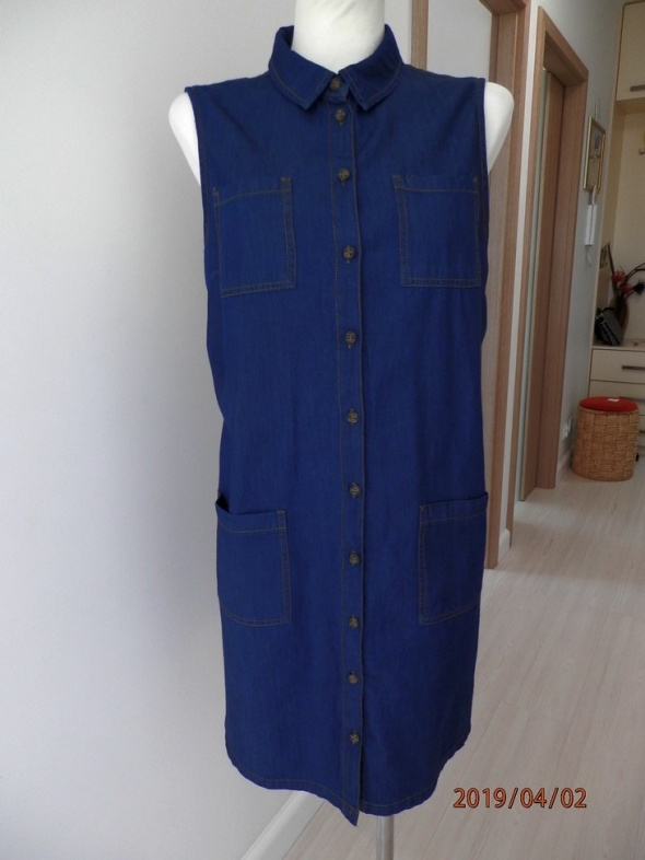Sukienka Koszulowa Dżinsowa Szmizjerka Dorothy Perkins 44
