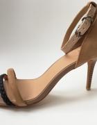 Sandałki szpilki Joes 39 beżowe zamszowe cieliste nude kawowe...