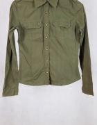 Koszula khaki militarna Cropp M...