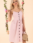 Śliczna różowa sukienka ramiączka S M L XL Kolory mięta szara...