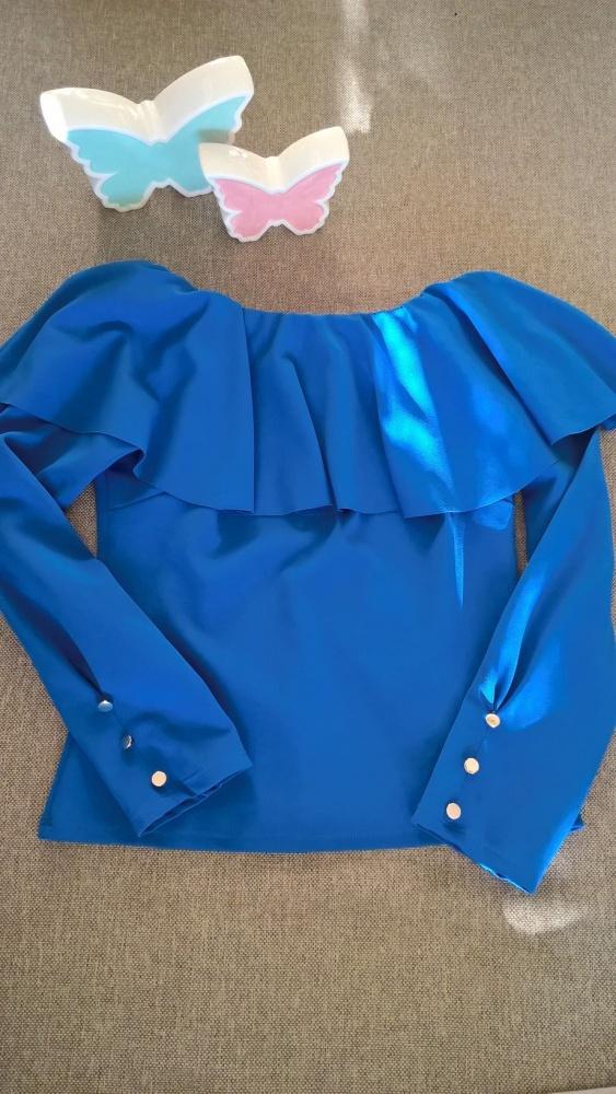 Kobaltowa bluzeczka hiszpanka S M