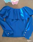 Kobaltowa bluzeczka hiszpanka S M...