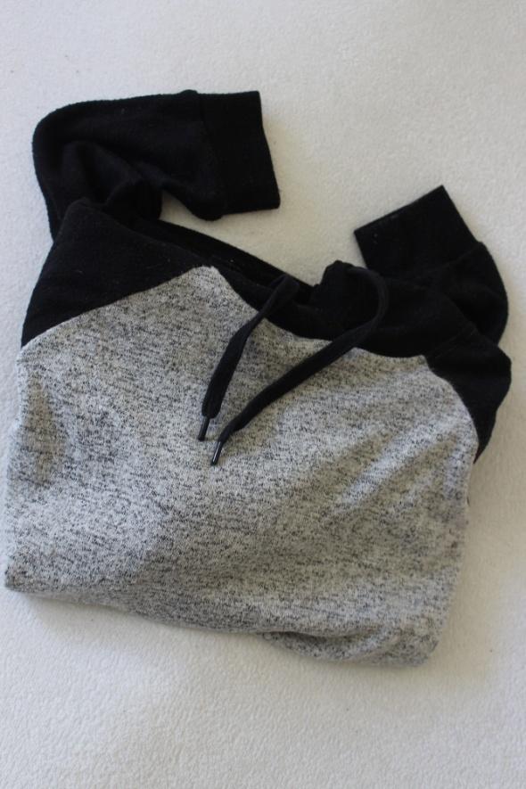 szaro czarna bluza bawełniana s