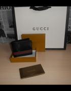 Skorzany PORTFEL MĘSKI Gucci w pudelky skóra Włochy 60223