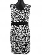 F&F sukienka panterka biało czarna rozm XL...