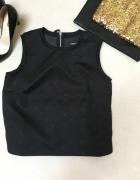 czarna piankowa bluzka zip...