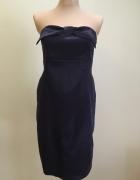 Fioletowa sukienka bez ramiączek...