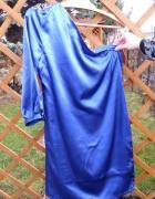 chabrowa sukienka jeden rękaw 36 S bpc...