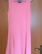 Nowa różowa rozkloszowana sukienka na ramiączkach Woman S 36...
