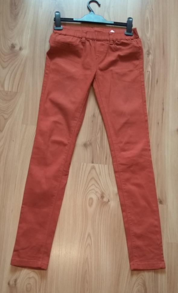 Treginsy spodnie ceglane brązowe S 36