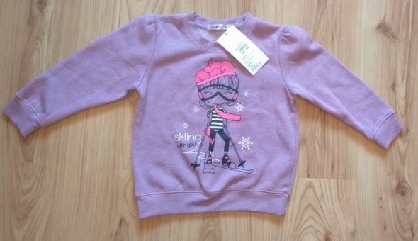 Nowa fioletowa nowa bluza bez kaptura dziewczeca 1