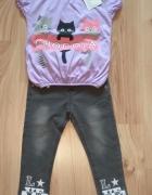 Nowy komplecik dziewczęcy szare spodnie i bluzeczk...