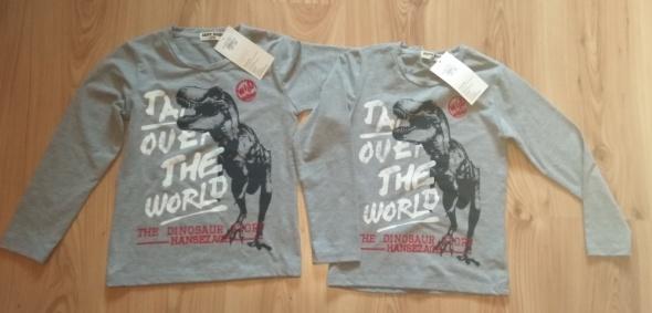 Nowe szare bluzy chłopięce dla bliźniaków 110 116
