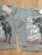 Nowe szare bluzy chłopięce dla bliźniaków 110 116...
