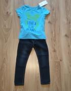 Nowy komplet dziewczecy bluzeczka i jeansy 110...