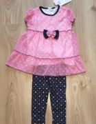 Nowa różowa sukienka z getrami 92 98...