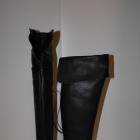 Reserved nowe z metka czarne muszkieterki 40 26 cm
