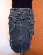 SASPERILLA super jeansowa spódniczka zgrabna orgi
