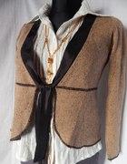 Świetny sweterek M A X I M A wełnabeż S BDB Pole