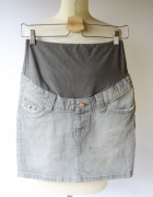 Spódniczka Szara H&M Mama S 36 Ciążowa Dzinsowa Jeans...
