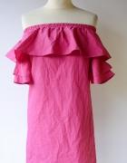 Sukienka Różowa Bershka Hiszapanka Odkryte Ramiona S 36...