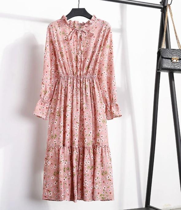 Wiosenna sukienka w kwiaty...