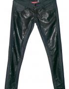 Spodnie skórzane rurki 38