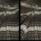 Brązowa plisowana spódniczka w kratkę