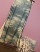 Bajeczna długa spódnica w drzewa mgła mgiełka błękit nietypowa ...