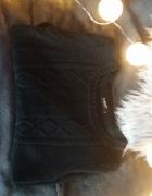 Sweter sweterek czarny pleciony ciepły jesienny zimowy modny...
