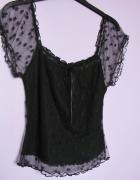 Czarna bluzeczka victorian goth gothic lolita z koronki letnia