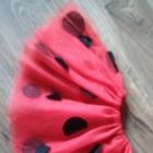 Spódniczka z tiulu czerwona w grochy