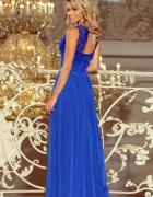 Sukienka maxi plecy długa XL chaberwesele