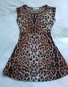 Sukienka krótka tunika panterka...