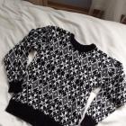 Swetere sweterek męski czarno biały