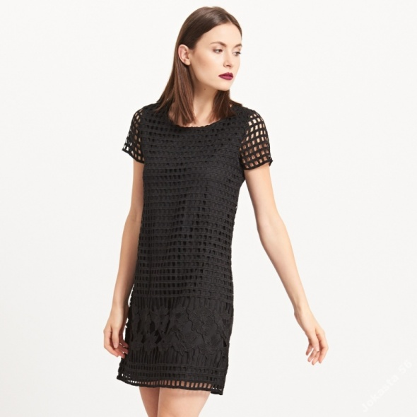 Elegancka sukienka Reserved koronka gipiura XS