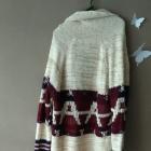 Sweter kardigan ciepły aztec