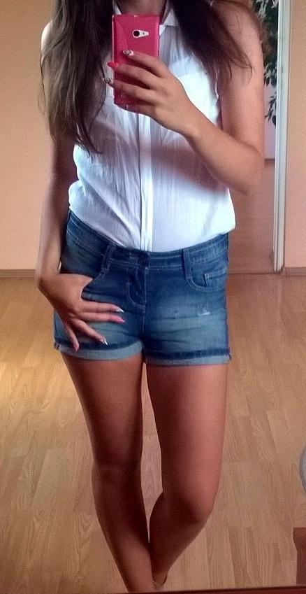 Szorty jeansowe spodenki...