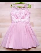 Sukienka z tiulem i koronką M