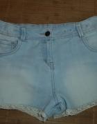 Spodenki szorty jeans koronka...
