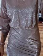 Sukienka złota błyszcząca