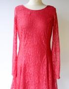 Sukienka H&M Divided Nowa Czerwona XXL 44 Koronkowa Koronka...
