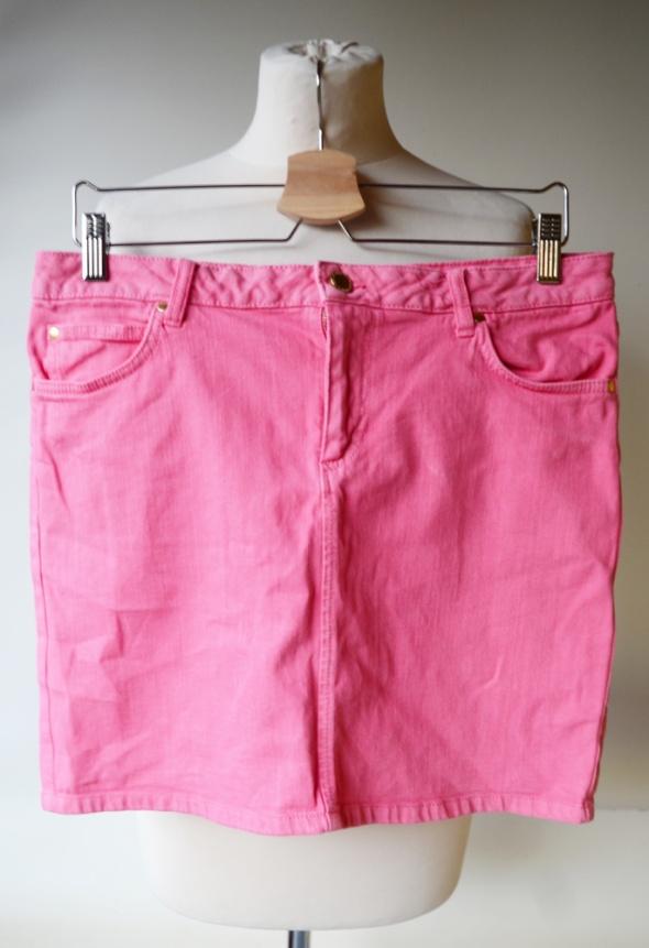 Spódnice Spódniczka Jeans Dżins Różowa Lindex 40 L Jeansowa