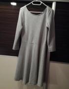 Czarno biała sukienka w paski M
