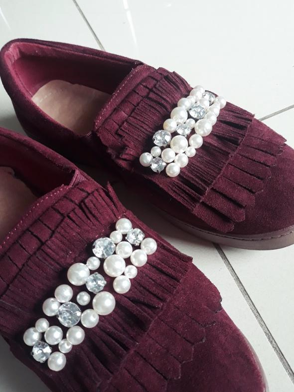 Buty zdobione perły dżety rozmiar 37
